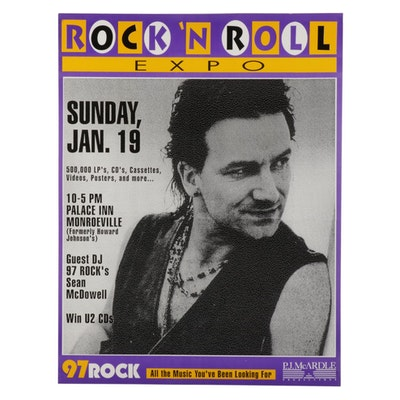 Bono Themed Pittsburgh Rock 'N Roll Expo Poster