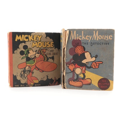 """Mickey Mouse the Detective"" and ""Mickey Mouse the Mail Pilot,"" 1933–1934"
