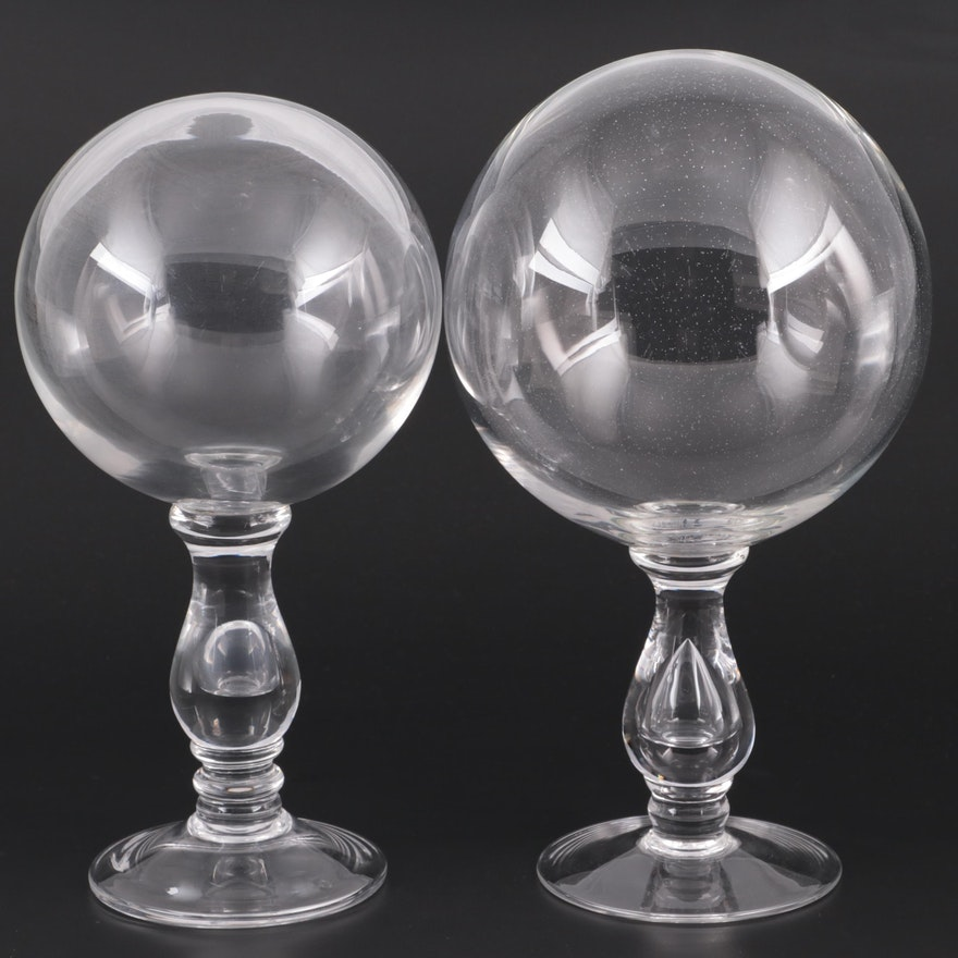 Decorative Glass Spheres on Stands