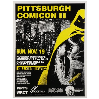 Pittsburgh Comicon II Poster Featuring Guest Artist Bill Sienkiewicz, 1989