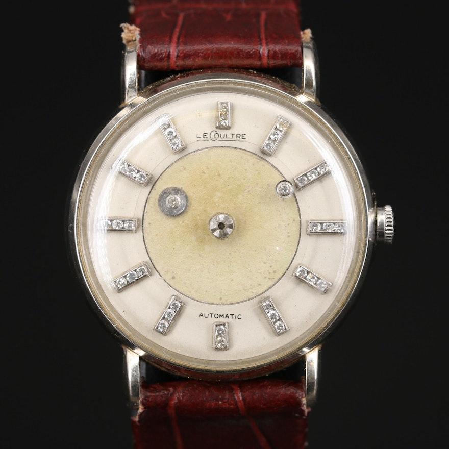 Vintage LeCoultre 14K Mystery Diamond Dial Wristwatch