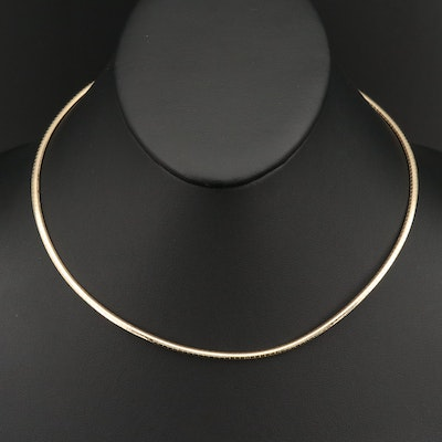 14K Omega Link Necklace