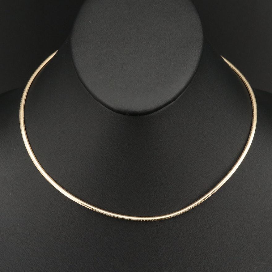 14K Omega Link Necklace