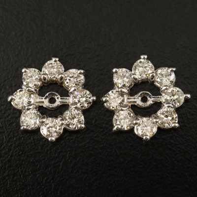 14K 1.20 CTW Diamond Flower Earring Jackets