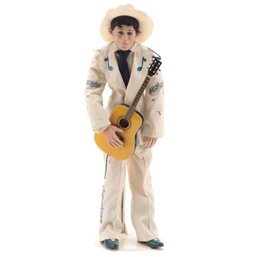 Hank Williams Sr. Commemorative Limited Edition Doll with Stand