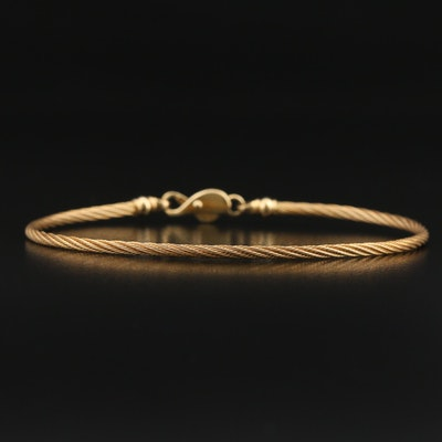 14K Twisted Cable Bracelet