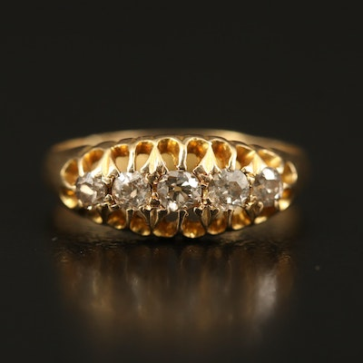Victorian 18K Diamond Openwork Ring