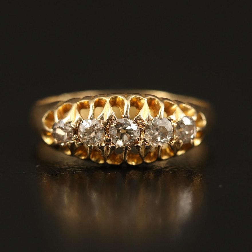 Victorian 18K Diamond Openwork Ring