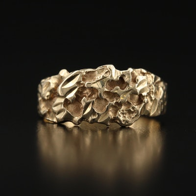 14K Nugget Style Ring