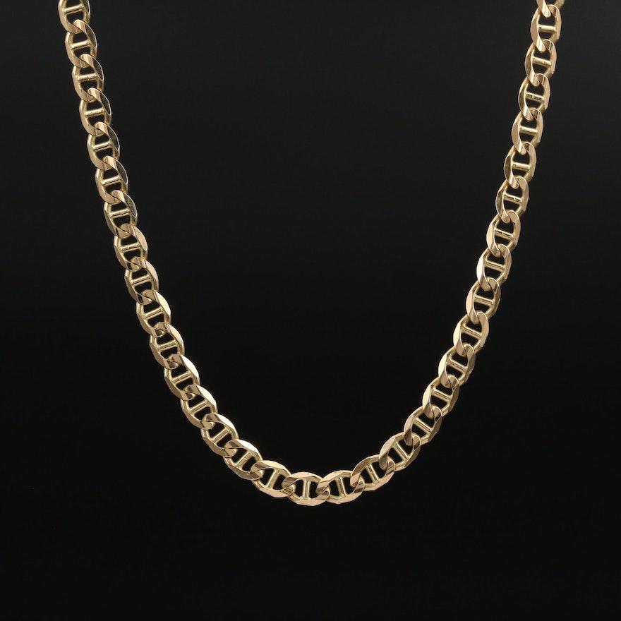 14K Mariner Link Necklace