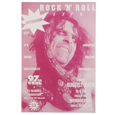 Alice Cooper Themed Commemorative Pittsburgh Rock 'N Roll Expo Poster