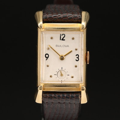 1947 Bulova 14K Stem Wind Wristwatch