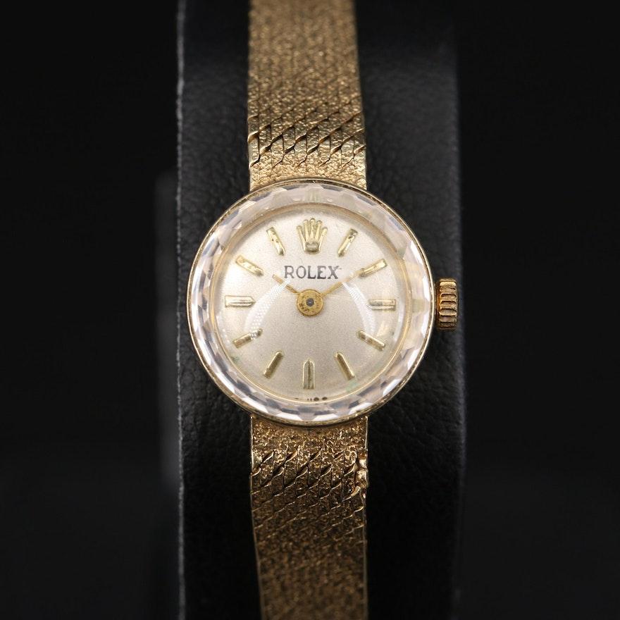 Rolex 14K Watch Case with Non Rolex Quartz Movement