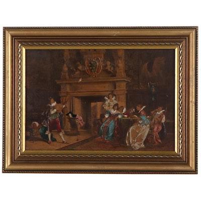 "Embellished Photogravure after Francesco Vinea ""A Musical Entertainment"""