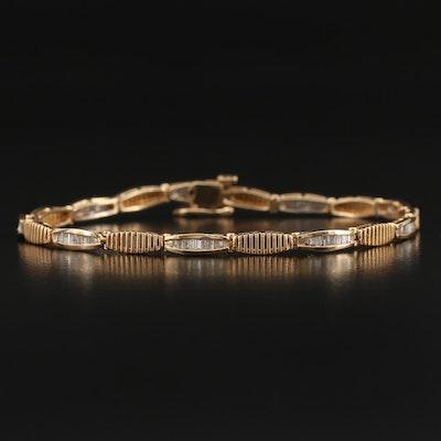 14K 1.50 CTW Diamond Link Bracelet