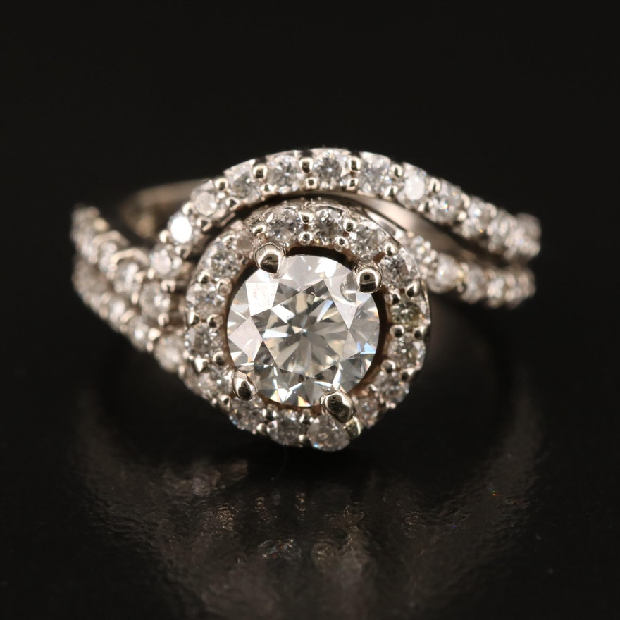 14K 1.68 CTW Diamond Ring with GIA Online Report