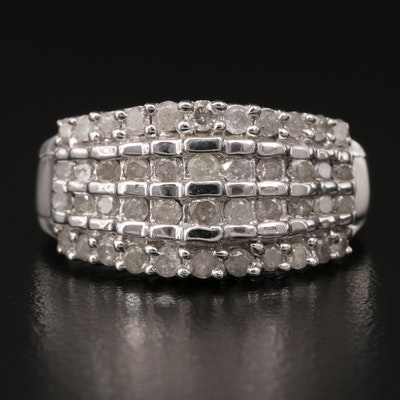 10K Multi-Row Diamond Ring