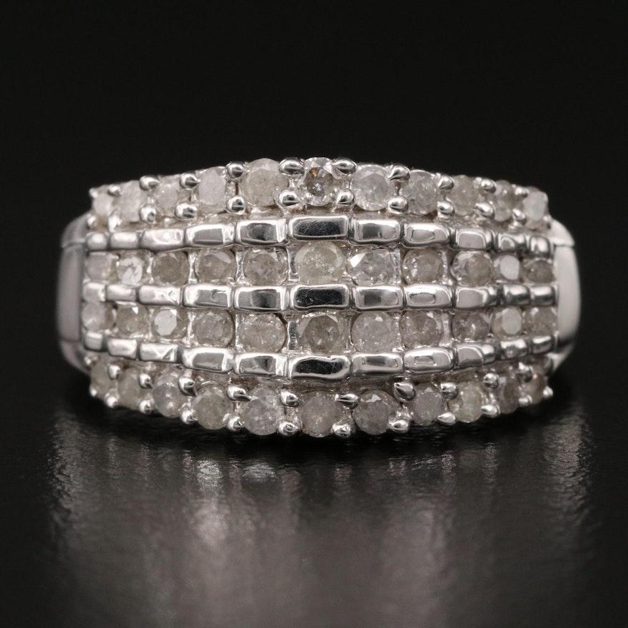 10K Multi-Row Diamond Ring