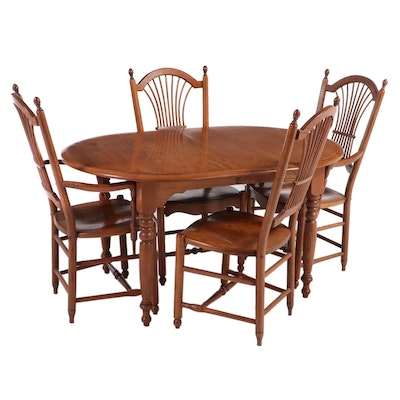 """Bent Brothers """"Colonial Revival"""" Oak Dining Set, Late 20th Century"""
