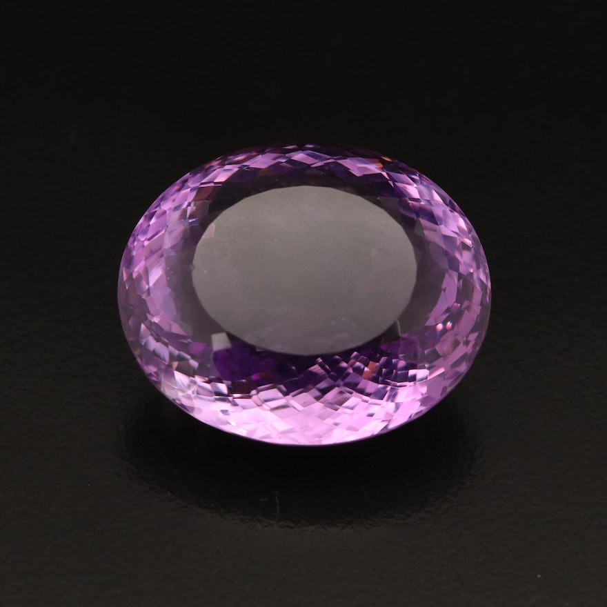 Loose 59.60 CT Oval Faceted Amethyst