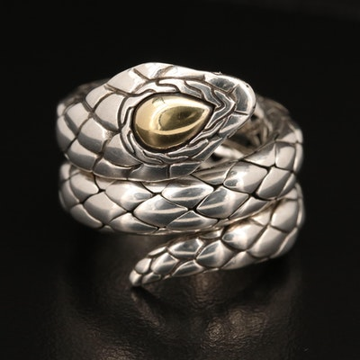 "John Hardy ""Legends Cobra"" Ring with 18K Accent"