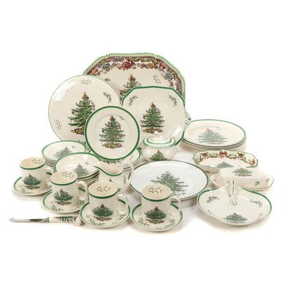 """Spode """"Christmas Tree"""" Ceramic Tableware, Late 20th Century"""