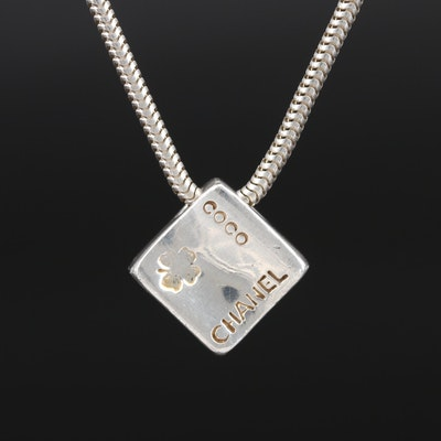 Chanel Sterling Pendant Necklace