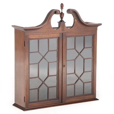 Federal Style Mahogany Bookcase, Formerly Part of a Secretary, 20th Century