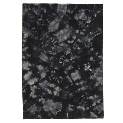 5'3 x 7'5 Handwoven Indian Tie Dyed Rug, 2010s