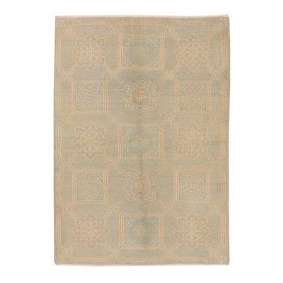 4'10 x 6'11 Hand-Knotted Indian East Turkestan Style Rug, 2010s