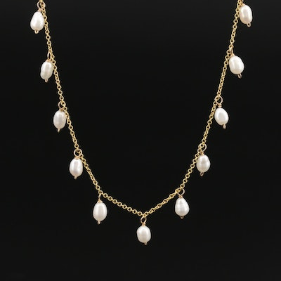 Italian 14K Pearl Fringe Necklace
