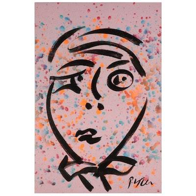 Peter Keil Acrylic Portrait Painting, 21st Century