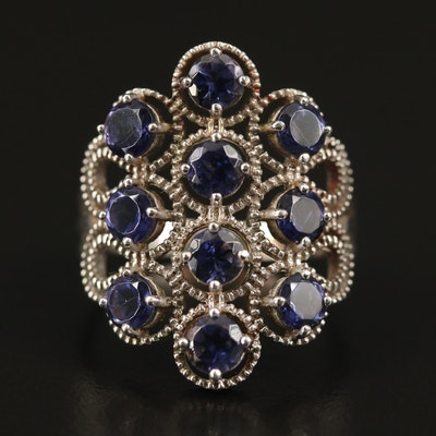 Sterling Iolite Openwork Ring