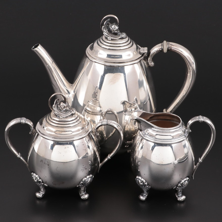 """International """"Spring Glory"""" Sterling Silver Coffee Service, Mid to Late 20th C."""