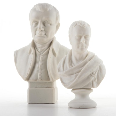 English A. Willis and W.H. Goss Parian Ware Busts, Late 19th/ Early 20th C.