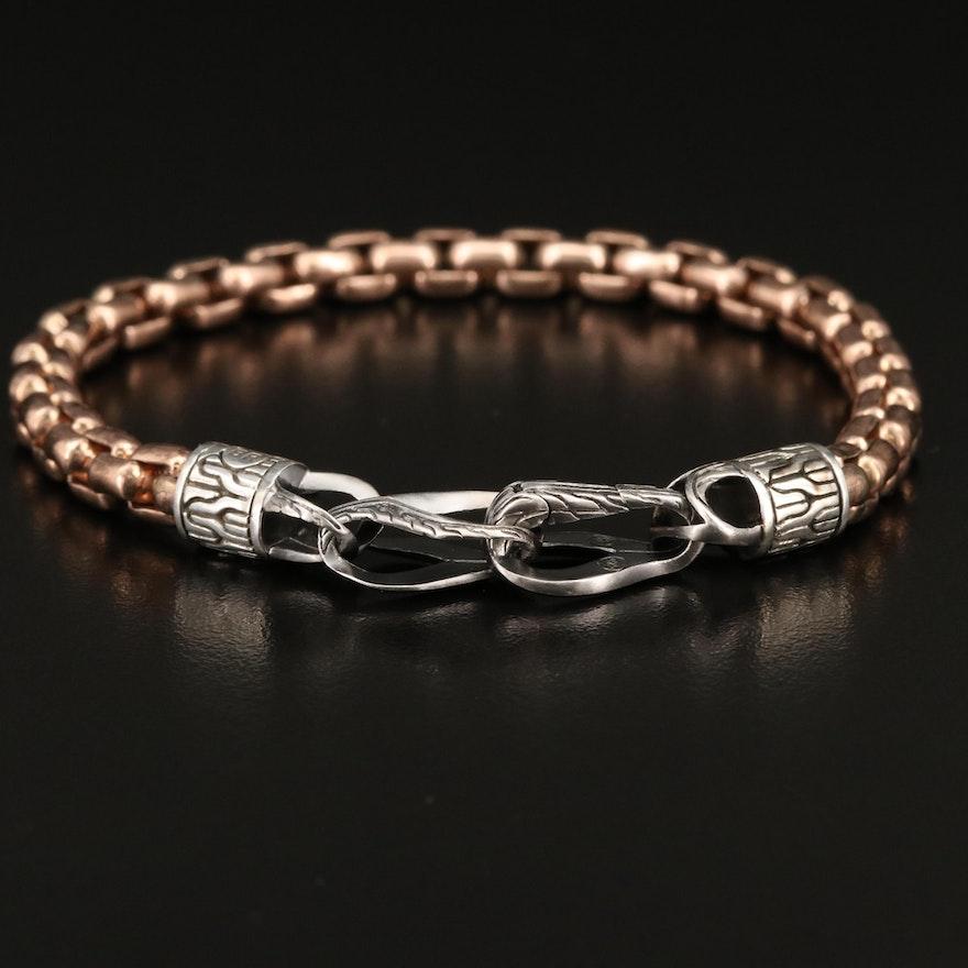 "John Hardy ""Asli Classic"" Box Chain Bracelet with Sterling Clasp"