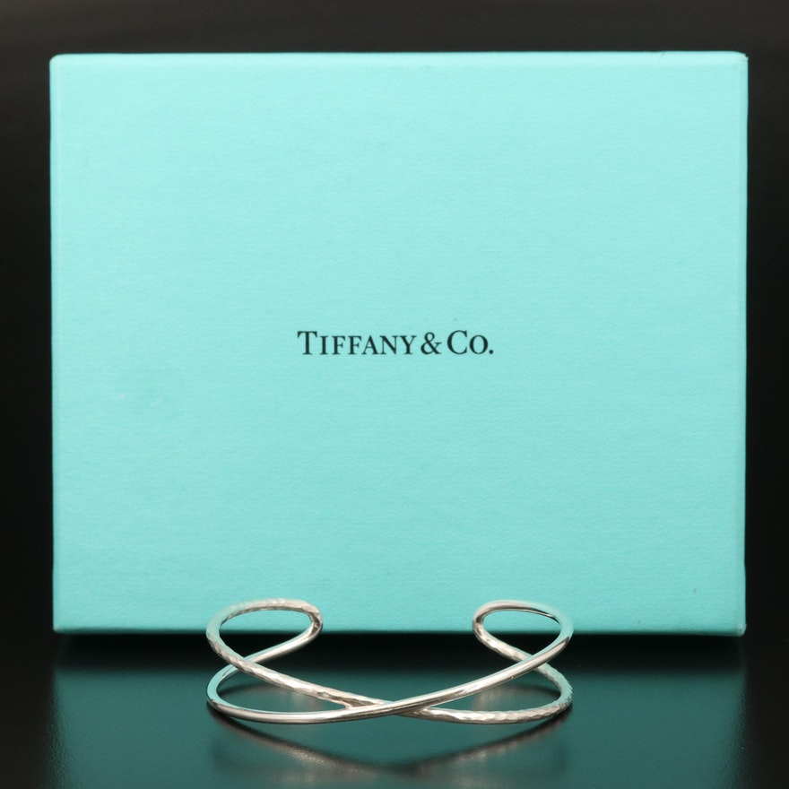Paloma Picasso for Tiffany & Co. Hammered Crossover Cuff with Box