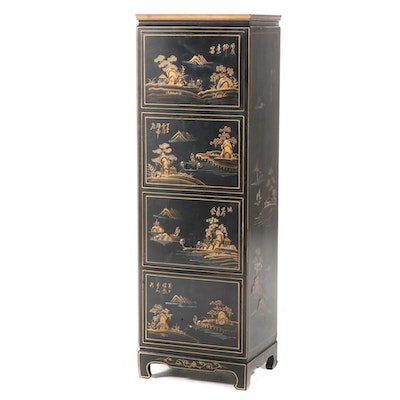 Home Decorators Collection Ebonized and Paint-Decorated Chest of Drawers