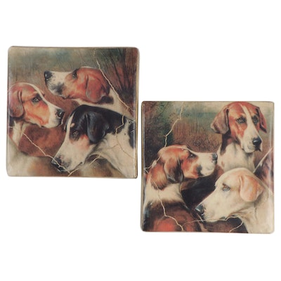 Pair of Hounds and Retriever Dogs Wall Prints