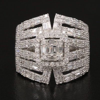 14K 1.54 CTW Diamond Openwork Ring
