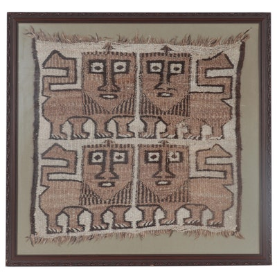 "Handwoven Ethiopian ""Lion of Judah"" Rug Wall Hanging"