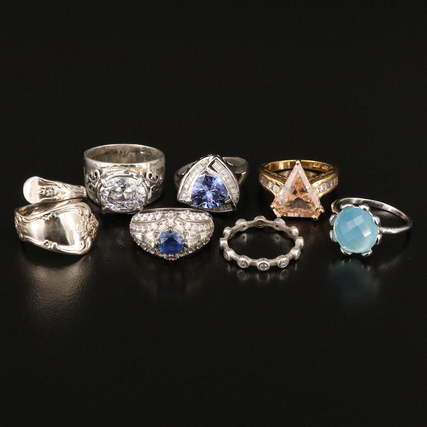 Gemstone Rings Including Sterling Silver