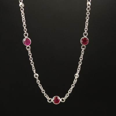 EFFY 14K Ruby and Diamond Station Necklace