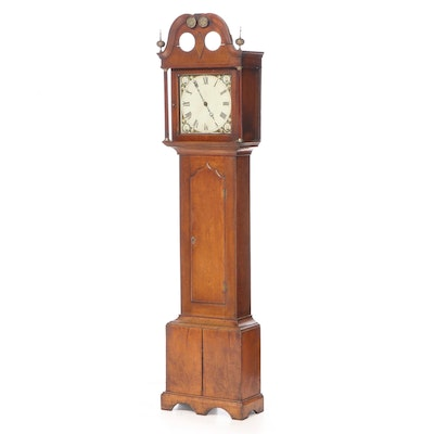 Federal Style Mahogany Cased Grandfather Clock, Early to Mid 19th Century