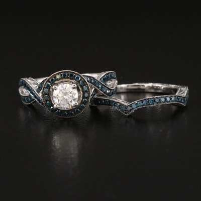 14K 1.26 CTW Diamond Ring Set