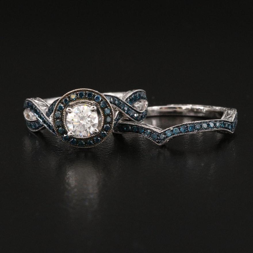 14K 1.26 CTW Diamond Ring Set