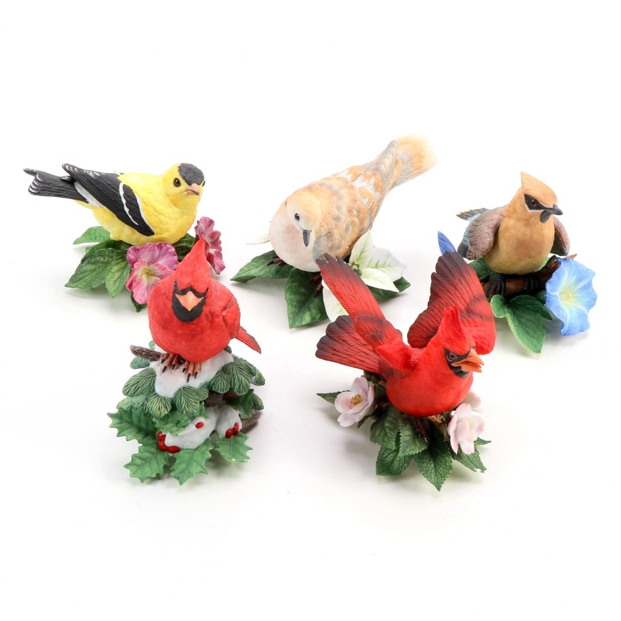 "Lenox ""Garden Birds"" and ""Christmas Birds"" Porcelain Figurines"