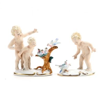 Gräfenthal Porcelain Figurines, Mid-20th Century