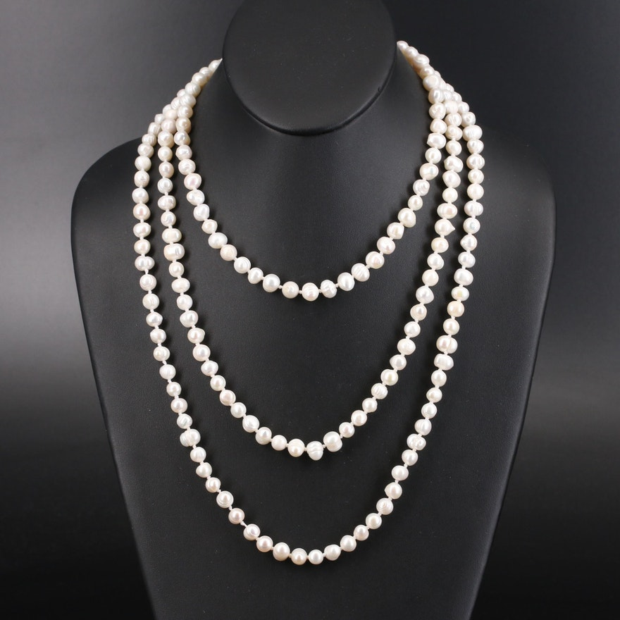 Endless Rope Length Baroque Pearl Necklace