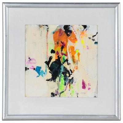 "Mark Whitmarsh Acrylic Painting ""Divine Garden #500,"" 2021"